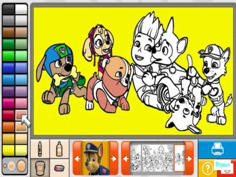 щенячий патруль новые раскраски персонажей мультика 2015 года