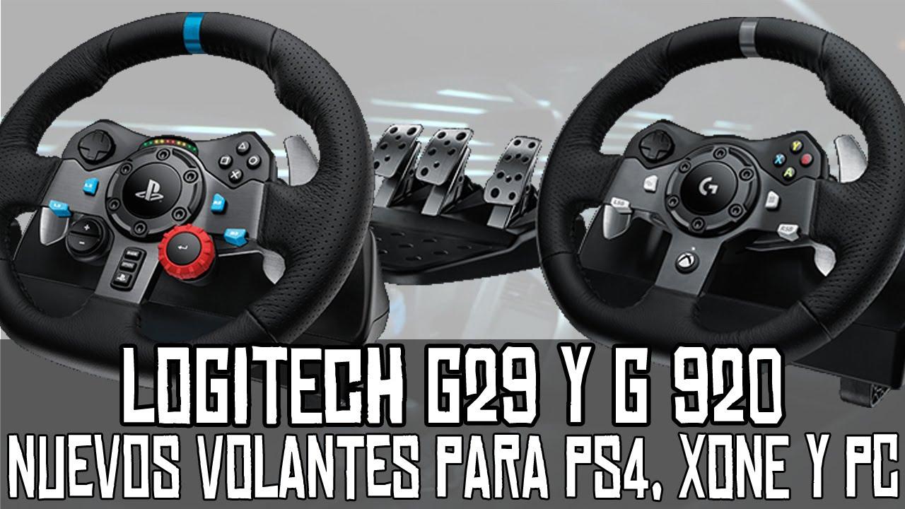 Logitech G29 y G920 || Nuevos volantes para PS4, XBOX One y PC