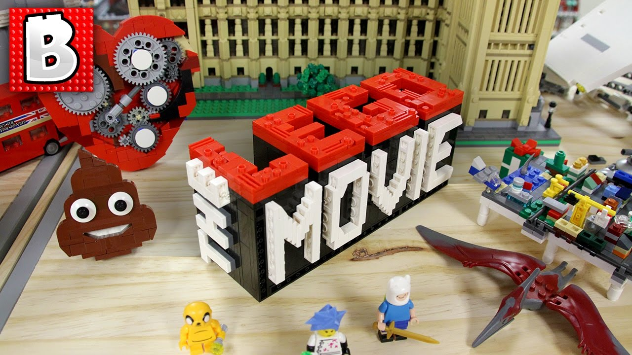 The Lego Movie Logo Small Scale Build Time Lapse Review Youtube