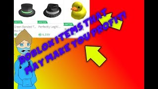 ROBLOX Limited Items that will make you profit!