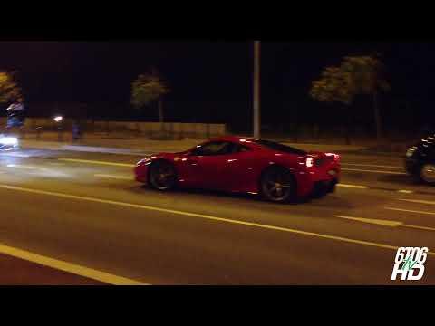 Y este es el Ferrari 458 Speciale rodando por Barcelona