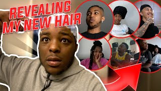 Revealing My NEW HAIR To My Family & Friends !!