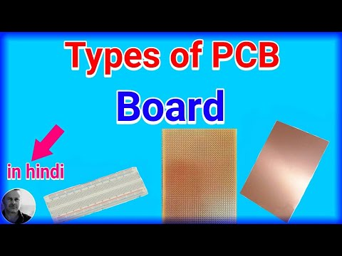 Types of PCB Board in hindi... (Electronics project)..