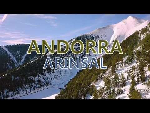 Andorra - Arinsal Mountains Slopes - Sunny | Aerial Drone Videos 4K | DJI Mavic Pro | Winter 2018