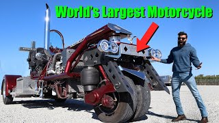 I got to drive the world's LARGEST motorcycle