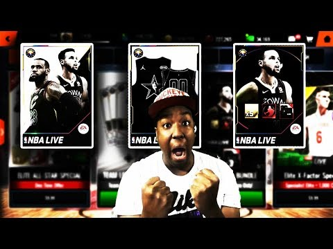 MASSIVE NBA LIVE MOBILE 18 ALL-STAR PACK OPENING!!!