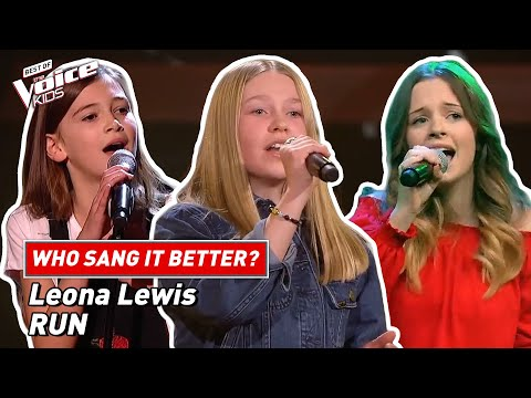"""Who sang Leona Lewis' """"Run"""" better?   The Voice Kids"""
