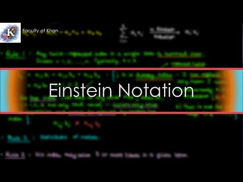 Einstein Summation Convention: an Introduction
