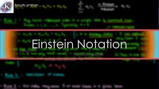 Einstein Summation Convention: an Introduction