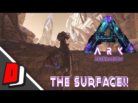 ARK ABERRATION - HOW TO GET TO THE SURFACE!!