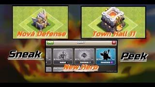 Clash of Clans Sneak Peek Česky - Town Hall 11?! Nová th 11 defense a new hero!!!