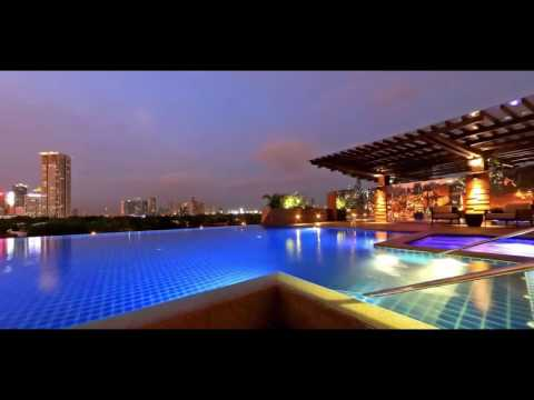 Luxury Hotel in Makati Central Business District - Infinity Pool (Night Time) at Discovery Primea