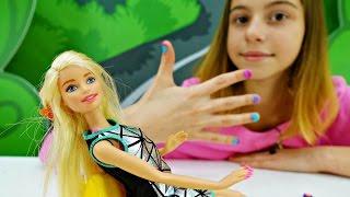 Видео игры с Плей До - Маникюр для куклы Барби