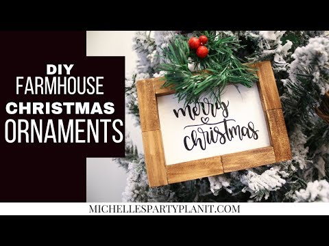DIY FARMHOUSE CHRISTMAS ORNAMENTS Dollar Tree DIY