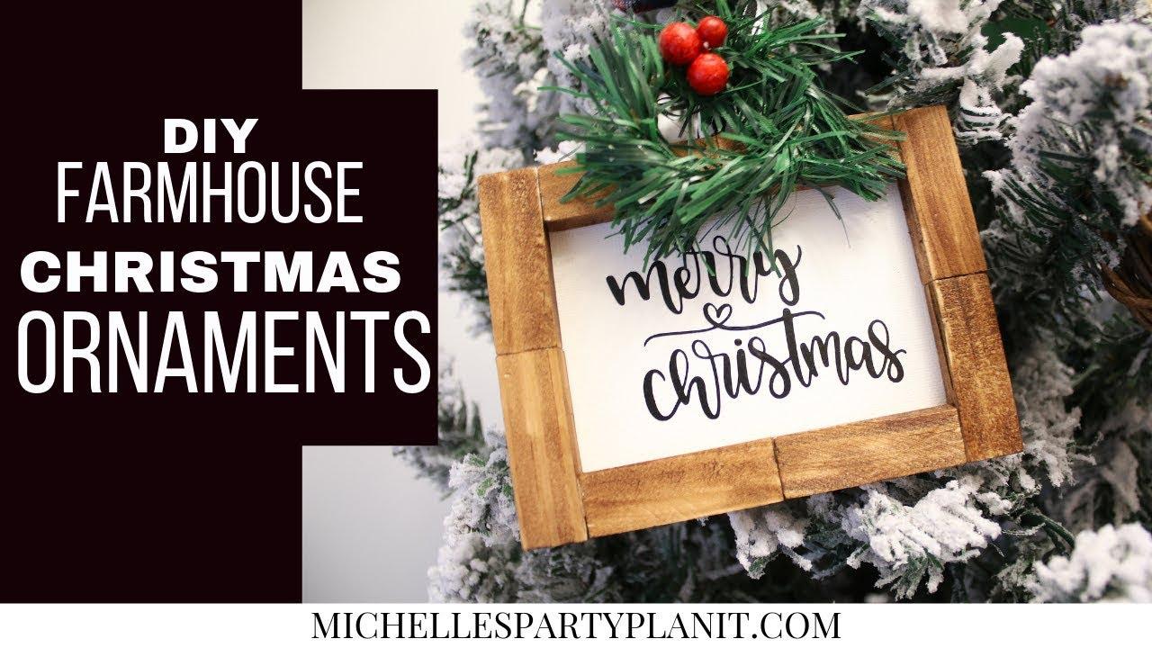 Diy Farmhouse Christmas Ornaments Dollar Tree Diy