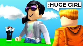 I made his roblox girlfriend HUGE using ADMIN COMMANDS..