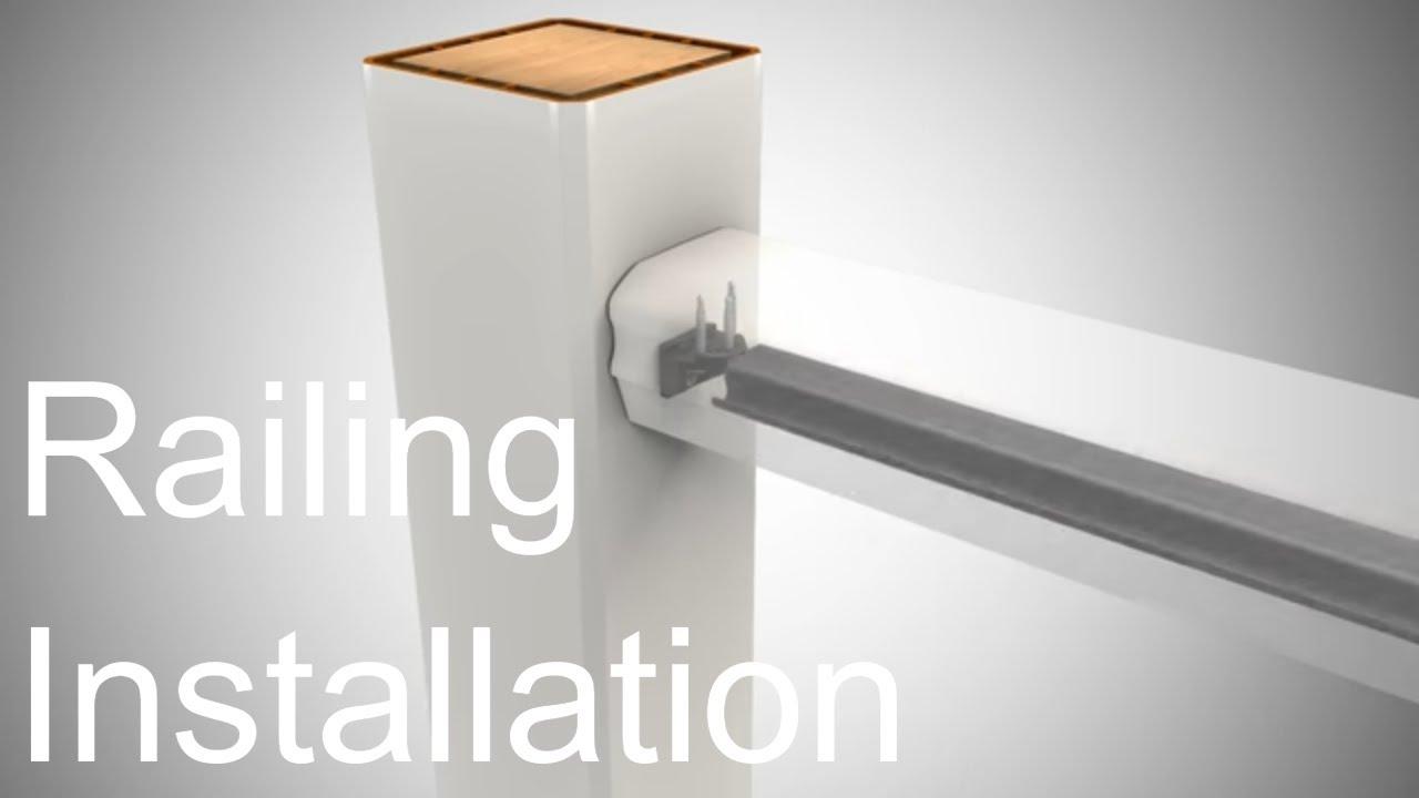 How To Install Trex Transcend Deck Railing Trex Youtube Youtube | Trex Transcend Stair Railing | Fascia | Lantern | Curved | Backyard | Premade Prefab Deck