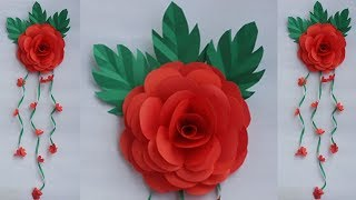 Diy : Wall Hanging Idea!! How To Make Flower Wall Hanging For Home Decoration!! Christmas Decoration