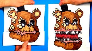 CREATE YOUR FNAF ANIMATRONICS - 10 COOL Five Nights at Freddy's DIY IDEA - CHALLENGE | You cant hide