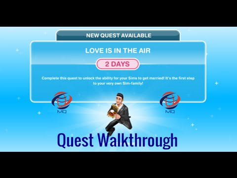 The Sims FreePlay - Love Is In The Air Quest Walkthrough