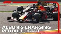 Alex Albon's Charging Red Bull Debut   2019 Belgian Grand Prix
