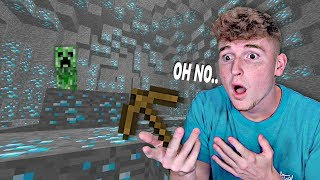 Infinite Lists Terrifying Hunt For DIAMONDS.. (Minecraft Part 2)