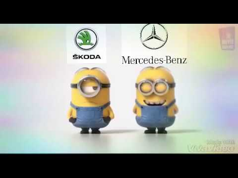 skoda vs mercedes benz minions youtube. Black Bedroom Furniture Sets. Home Design Ideas