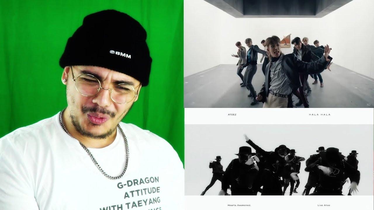 the new generation of kpop    ateez - say my name  u0026 hala hala reaction