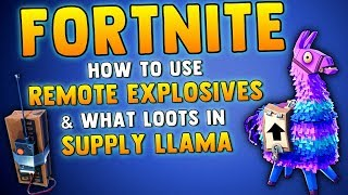 FORTNITE BATTLE ROYALE LLAMA LOOT - What You Get In Llama Supply Drops & How To Use C4 Explosive