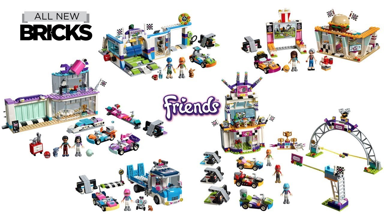 Lego Friends Go Kart Theme Compilation Of All Sets Youtube