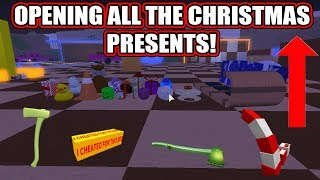 OPENING ALL THE *2018* CHRISTMAS PRESENTS! (CHRISTMAS UPDATE!) LUMBER TYCOON 2 ROBLOX