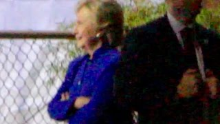 HILLARY - Pacing, Gesturing; Later Helped Aboard Vehicle; Post Rally @ Tempe, AZ 02-NOV-2016