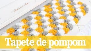 Tapete de pompons – Decoração de Inverno