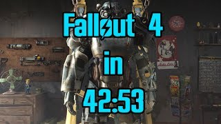 (World Record) Fallout 4 Speedrun in 42:53 IGT - Any%
