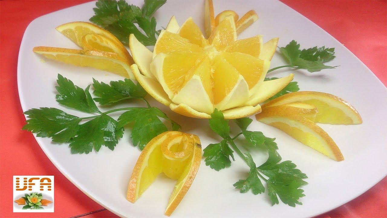 Art in orange lotus flower carving garnish orange fruit art art in orange lotus flower carving garnish orange fruit art designs food party izmirmasajfo