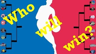 Predicting the 2017 NBA Playoff Bracket! Who will win?