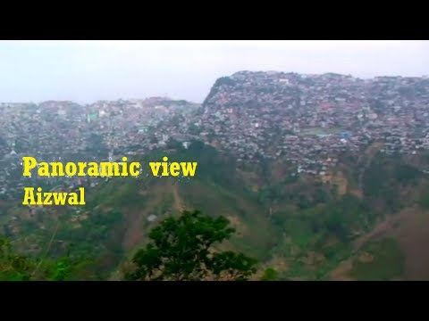 Awesome View Of Aizawl - The Largest City And Capital Of Mizoram