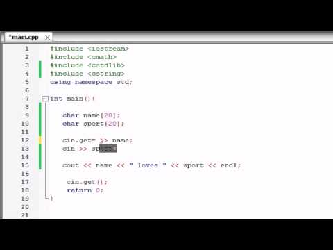 C++ Programming Tutorial - 13 - Store Text in an Array
