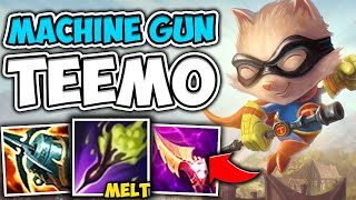 BECOME A DART MACHINE GUN WITH MAX ATTACK SPEED TEEMO - League of Legends
