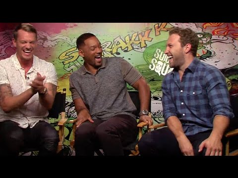 Suicide Squad: Joel Kinnaman, Will Smith and Jai Courtney crack up during