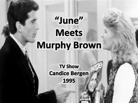 "John F. Kennedy Jr., promotes ""George Maga zine"" o The Murphy Brown TV Show 1995"