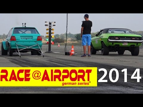 Race at Airport Werneuchen 2014 Beste Szenen Viertelmeile Rennen Burnout Drag Race