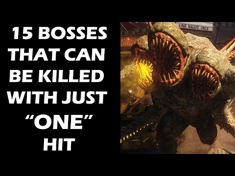 "15 Video Game Bosses That Can Be Killed With Just ""ONE"" Hit"