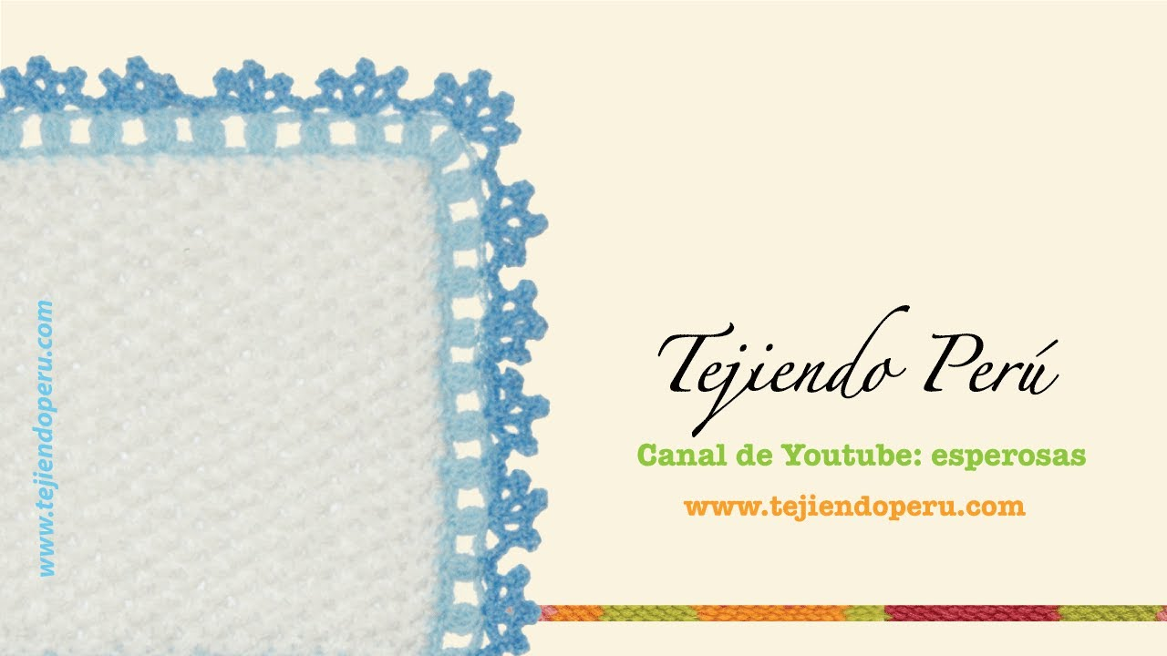 Borde tejido en crochet # 2 - YouTube