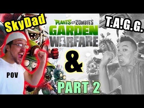 Plants vs. Zombies Garden Warfare - Asian Guy Gamer Co-Op Pt. 2 | Skylander Dad POV / Commentary