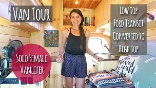 VAN TOUR | FULL-TIME SOLO FEMALE lives with DOG in Ford Transit!