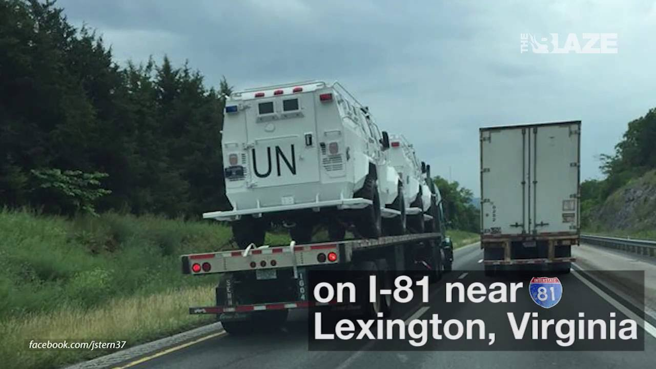 Un Military Vehicles Spotted In The Us