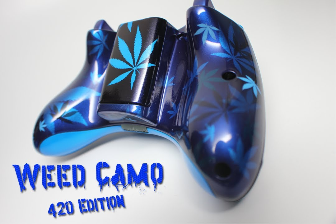 420 EDITION Weed Camo Custom Xbox 360 Controller By YouTube
