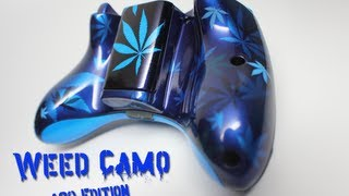- 420 EDITION - Weed Camo Custom Xbox 360 Controller by ProModz.com