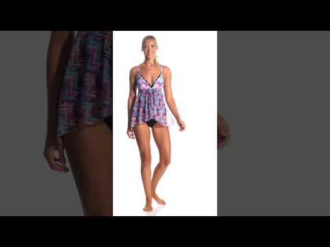 Profile by Gottex Fantasia Halter Flyaway One Piece Swimsuit |  SwimOutlet com